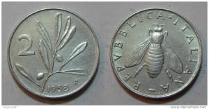 2 Lire del 1958