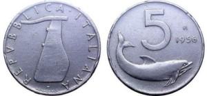 5 Lire del 1956