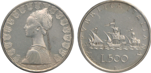 500 lire 1957