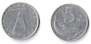 5 lire 1954