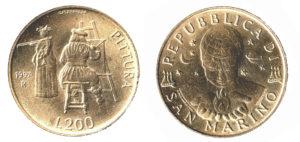 200 lire san marino